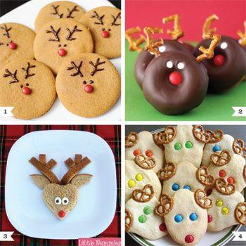 Reindeer snacks: Christmas Food, Reindeer Cookies, Christmas Cookies, Holidays Treats, Food Ideas, Reindeer Snacks, Reindeer Treats, Christmas Treats, Snacks Ideas