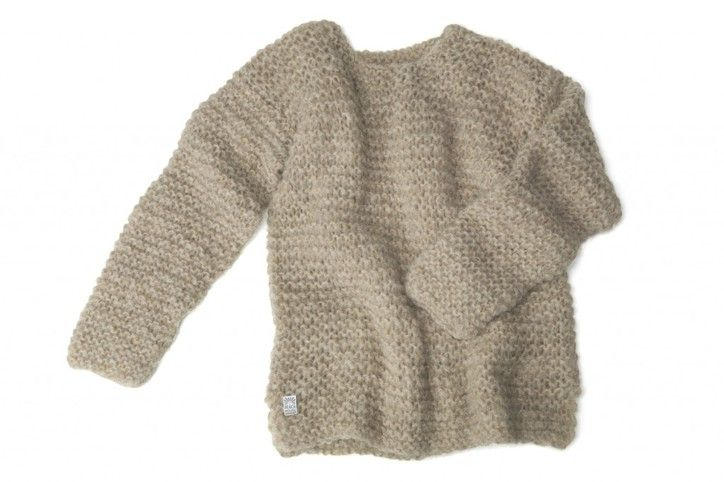 HANDKNITTED ALPACA JUMPER - Beach House