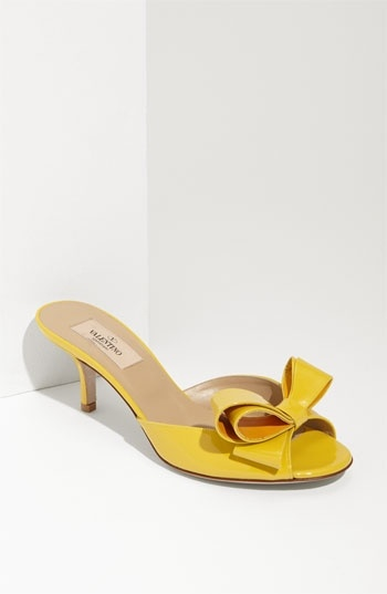 Valentino Couture Bow Patent Slide Sandal   Nordstrom - StyleSays