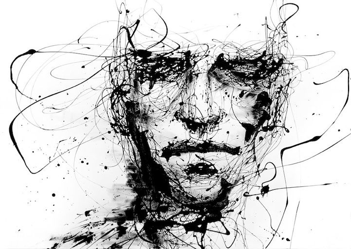 Powerful Dripping Paint Portrait by Agnes-Cecile - My Modern Metropolis