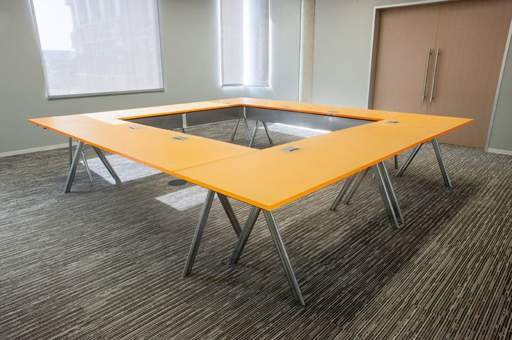 Versteel Paces® Table With 3Form Chroma Vitamin C Versteel®, Education,  Hospitality, Healthcare, Tables, Furniture, Meeting, Training Tables, Traiu2026