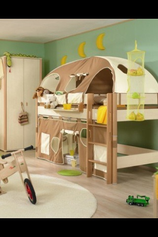 Play area - tented bunk beds