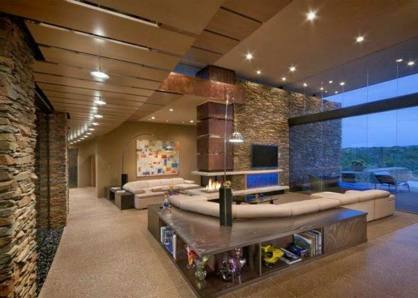 LED False Ceiling Lights Luxury Living Room With Spotlights