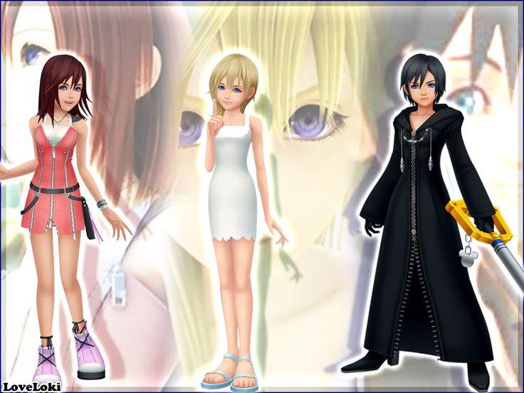 Kairi, Namine & Xion--Sora's girls :)