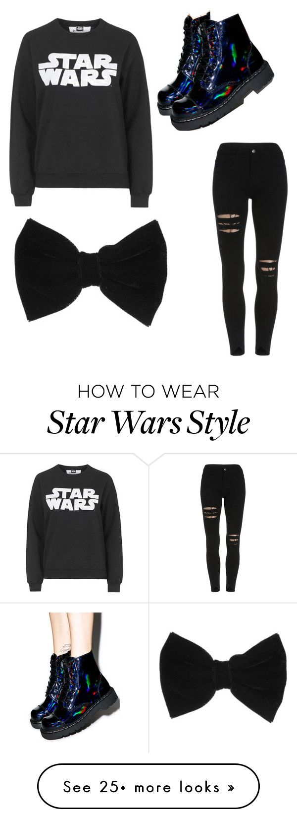 """""""Starwars"""" by delaneynene on Polyvore featuring Tee and Cake, T.U.K., claire's, women's clothing, women's fashion, women, female, woman, misses and juniors"""