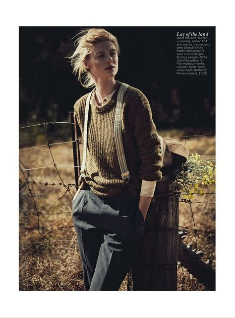 Love this tomboy look   'See You At Sundown' Elizabeth Debicki by Will Davidson for Vogue Australia