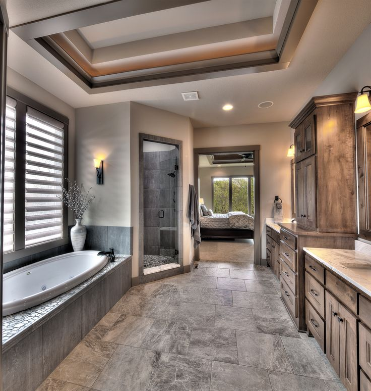 Master bathroom, his and her sinks