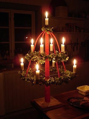 Old Swedish Christmas tradition from South Sweden, the Christmas tree, a candelabra, a reshaped version of the Odin Tree with motifs with connections to the Viking Age. Description from pinterest.com. I searched for this on bing.com/images