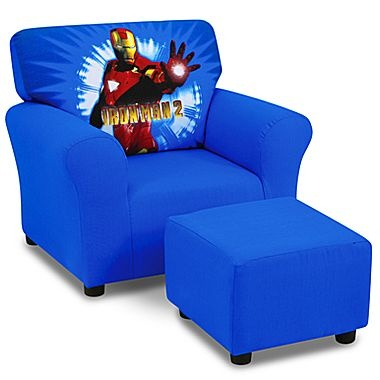 Kids Furniture Iron Man Chair And Ottoman Set Jcpenney