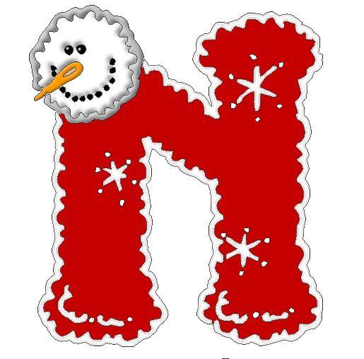 198 best letter n images on pinterest alphabet letters - Alphabet noel ...