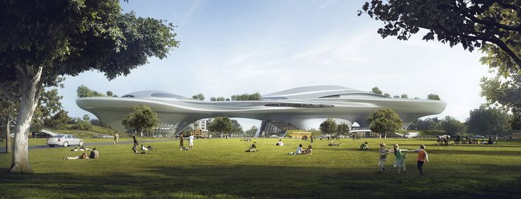 Architect Ma Yansong's design for the Lucas Museum of Narrative Art in Exposition Park, Los Angeles