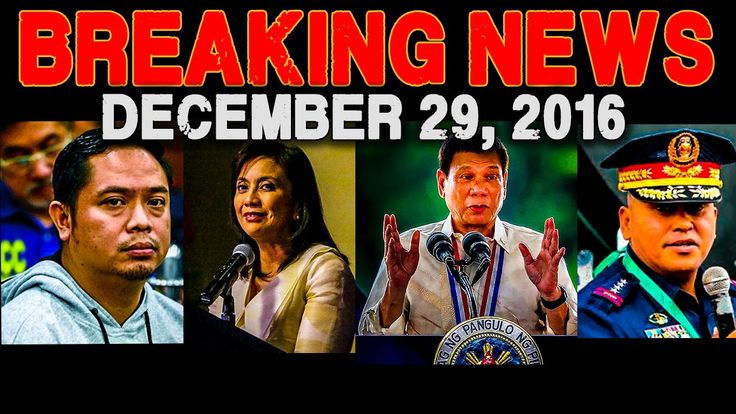 BREAKING NEWS TODAY! DECEMBER 29 2016 JB SEBASTIAN l LENI ROBREDO l PRES...
