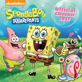 New Official SpongeBob Squarepants 2017 Calendar available with FREE UK P&P (plus worldwide delivery available) at http://bit.ly/TVCals2017
