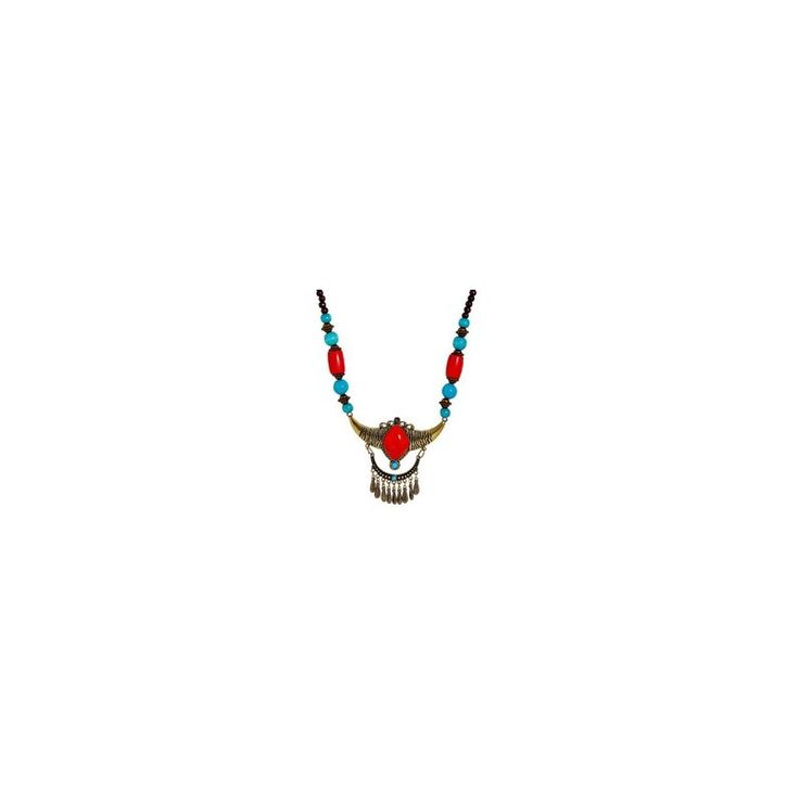 Maayra Sexy Blue Red Terracota #Necklace without Earrings	 #onlineshopping	http://goo.gl/OGtimn