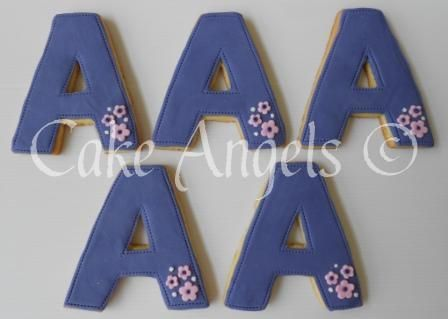 Letter' A' Cookies