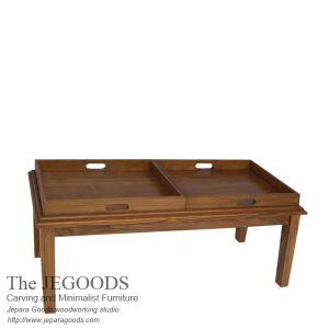 The Jegoods Woodworking Studio design and produce teak minimalist Serving Tray end table made of teakwood. Jepara furniture manufacturer Indonesia at low price.  #sidetable #teakminimalist #minimalistfurniture #jeparagoods #indonesiafurniture #servingtray #teaktable