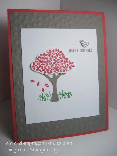 Stampin' Up! Sprinkles of Life, Tree Builder Punch. www.stampingchronicles.com Watermelon Wonder, Tip Top Taupe