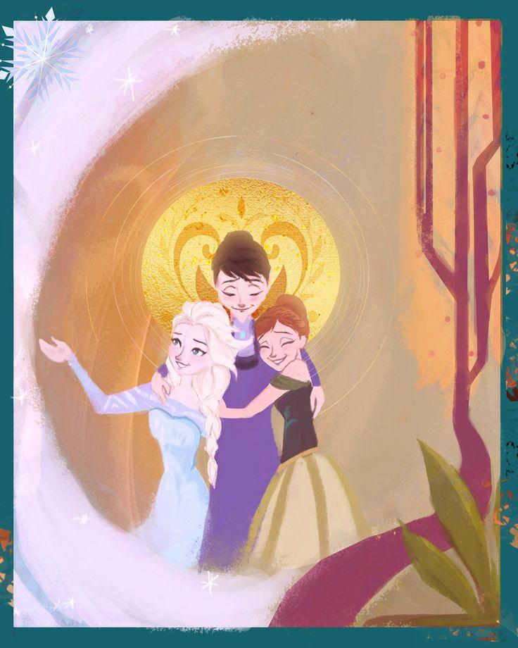 Queen Idun with her daughters