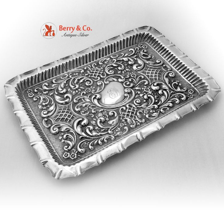 Repousse Dresser Tray Birmingham Sterling Silver 1902 - 59 Best Antique Silver Vanity Trays Images On Pinterest Dressing
