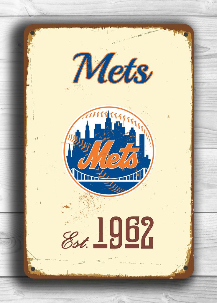Vintage style New YORK METS Sign, New York Mets Est. 1962 Composite Aluminum New York Mets in team colors WORLDWIDE Shipping by FanZoneSigns on Etsy