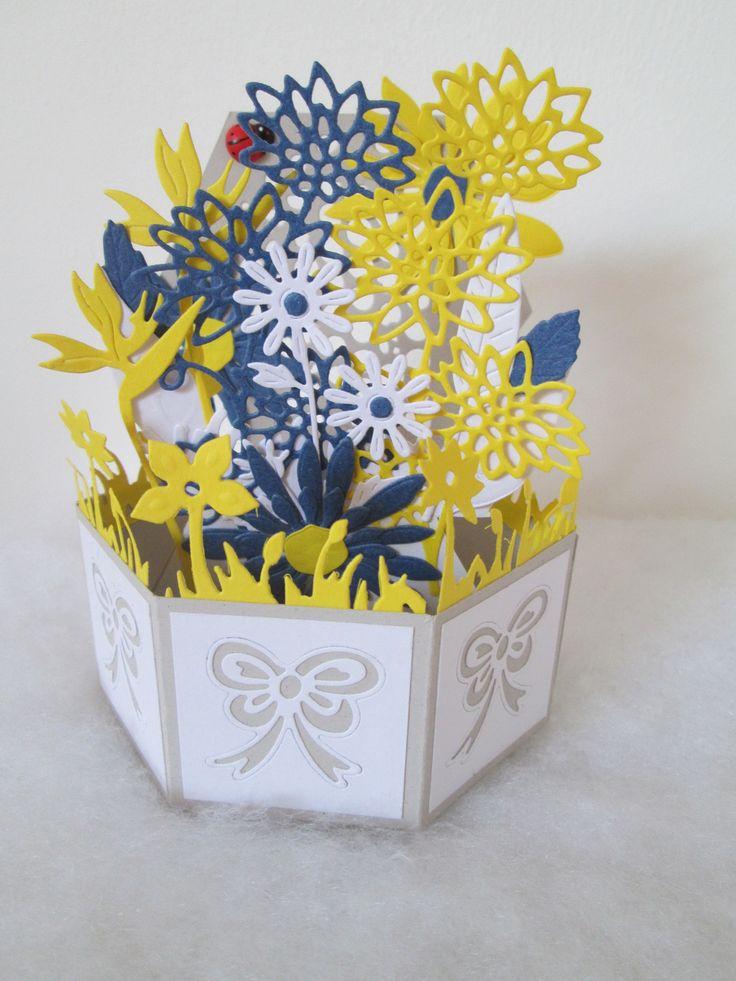Carte hexagonale unique, 100% fait main façon artisanale pour toutes les occasions : Cartes par les-petits-papiers-de-marie