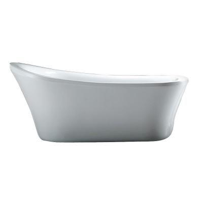 Schon Aiden 5.8 ft. Reversible Drain Bathtub in White
