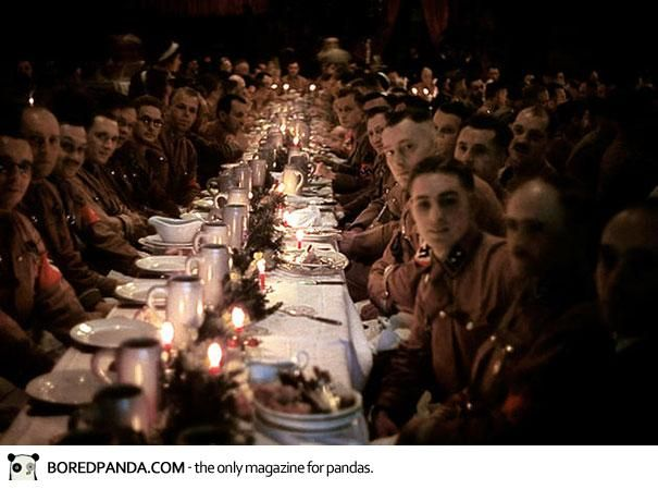 Hitler's officers and cadets celebrating Christmas, 1941