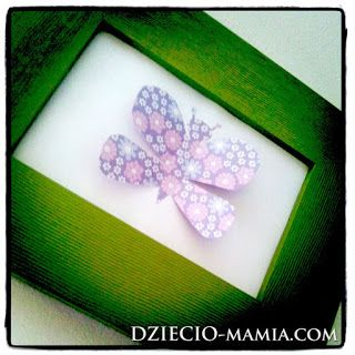 diy, frame with butterfly, spring
