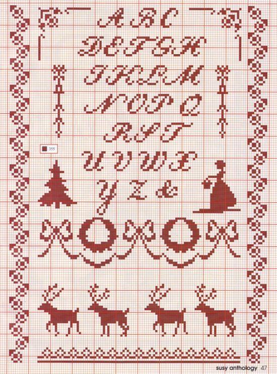 die besten 25 weihnachten kreuzstich alphabet ideen auf pinterest kreuzstich alphabet. Black Bedroom Furniture Sets. Home Design Ideas