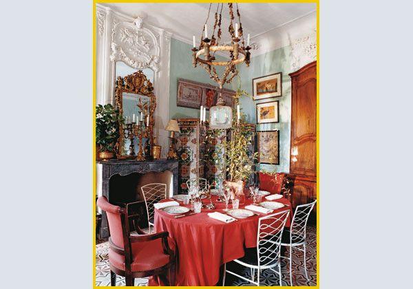 Provenza, stanza da pranzo dei decoratori Michelle e Yves Halard