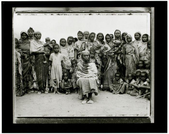 Gabbra tribal matriarch with women and children, Ethopian Refugee Camp, Walda, Kenya