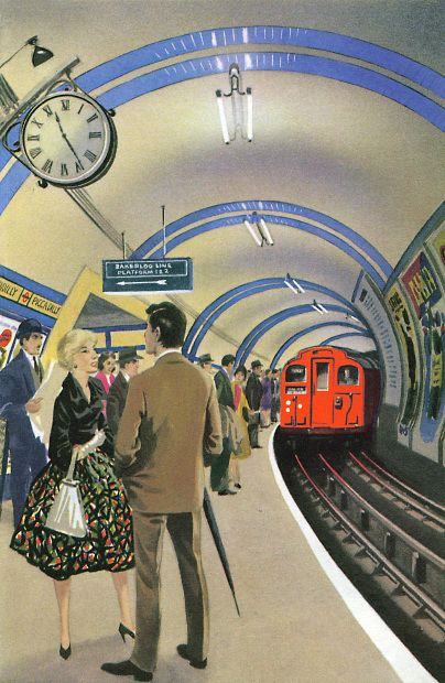 The Story of Railways: The London Underground. Author: Richard Bowood Illustrator: Robert Ayton (1961). 100 Years of Ladybird Books.