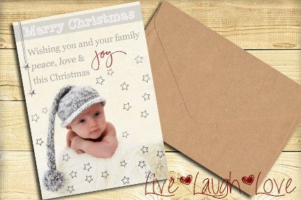 Christmas Photo Card digital & printable by MKLiveLaughLoveShop, $5.00
