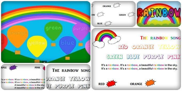 Pour amorcer le travail sur les couleurs en anglais, voici une chanson très simple mais que je trouve fort sympathique. J'ai préparé une petite fiche avec les paroles dans une version coloris…