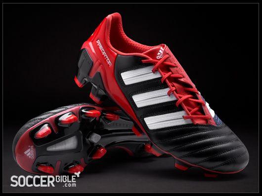 f01db67abf adidas adipower Predator Football Boots - Black White Red - http