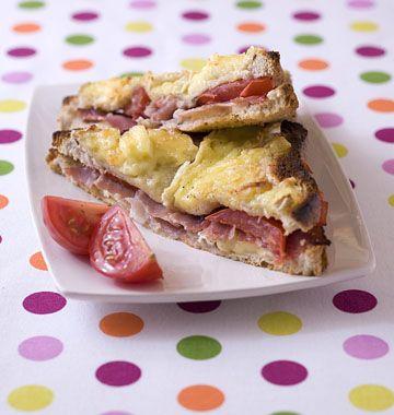 Photo de la recette : Croque monsieur au camembert et au jambon de pays