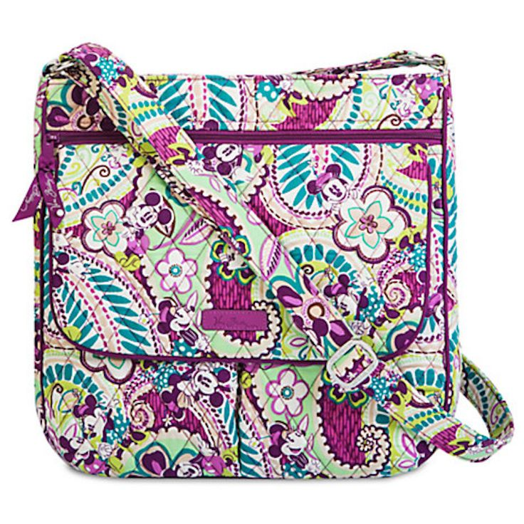 Disney Parks Plums Up Mickey Mailbag by Vera Bradley New with Tags