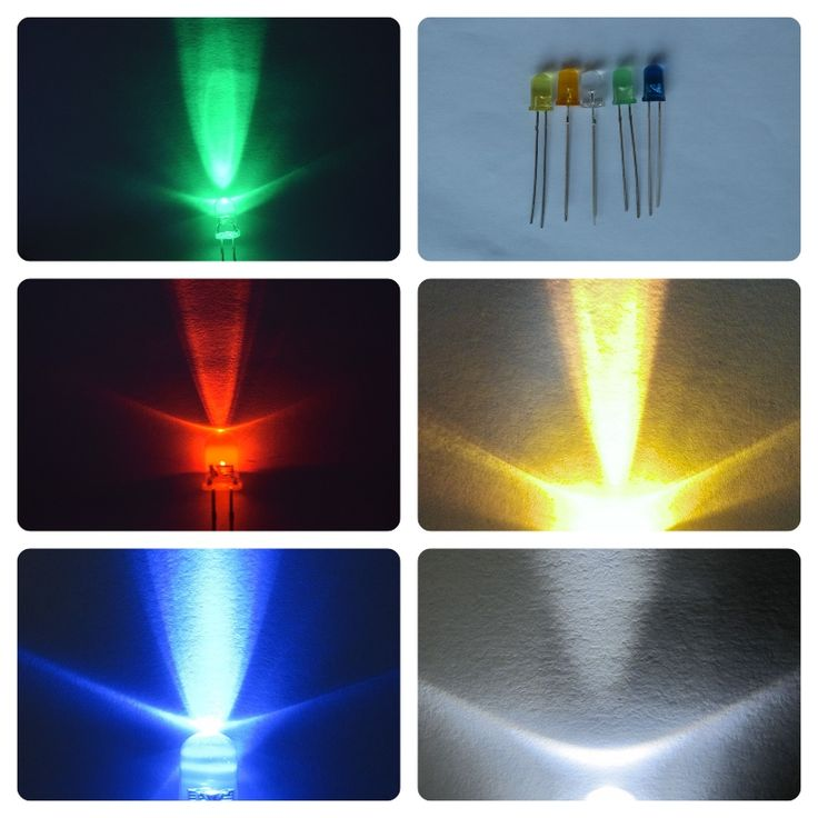 red green blue yellow white round led 5mm diode