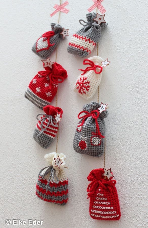 Kleine Adventskalender Säckchen Geschenkbeutel Oder