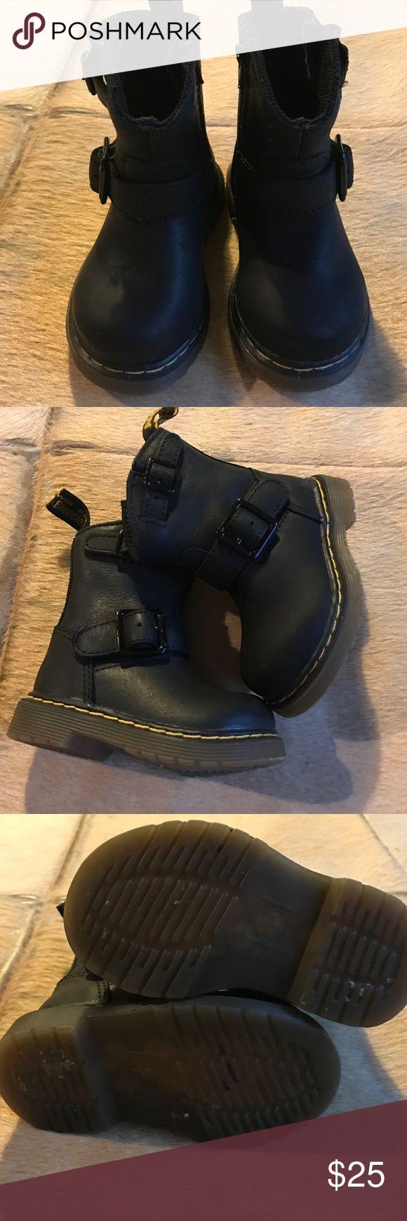 Dr Martens boots black Dr Martens black boots is great condition, inside zipper entry. No pp, no trades dr marten Shoes Baby & Walker