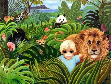 """Hawaiian Kingdom"" by Margaret Keane"
