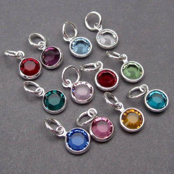 Swarovski Birthstone Charm Bracelet Charm Personalized Etsy In 2020 Personalized Jewelry Birthstone Charms Charms Swarovski