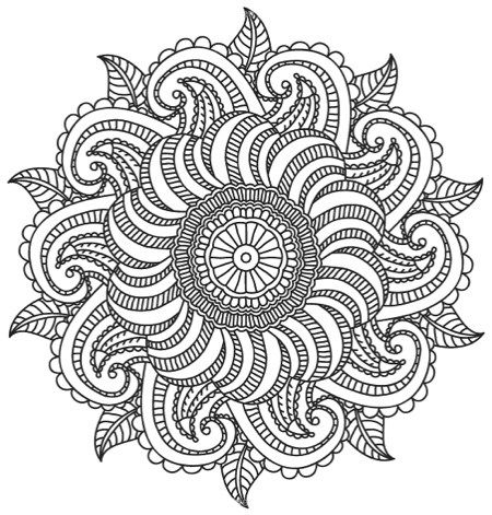 Relaxing Mandalas Adult Coloring Book With Bonus Relaxation Music CD
