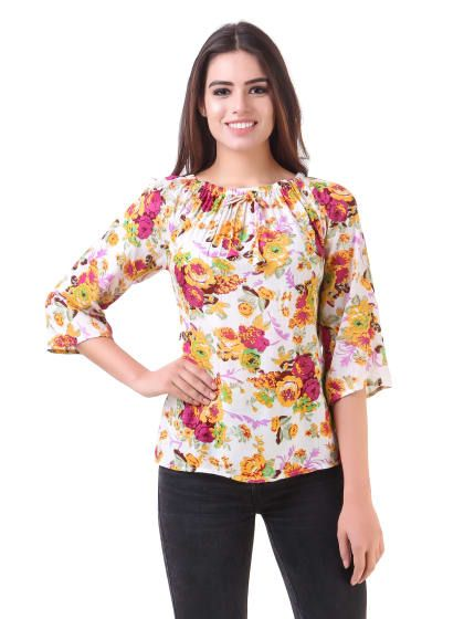 c0d64df526a White Floral Print Off-Shoulder Top | Only on sourgrape.wooplr.com | Best tops  Online