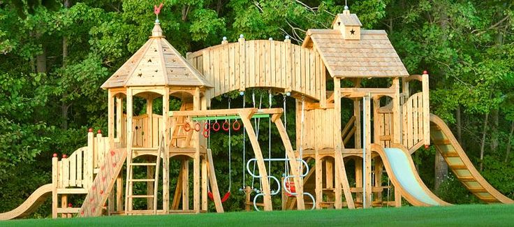 I think my husband should build this play set for my backyard.  of course, then I wouldn't have a backyard, I would just have a play set.