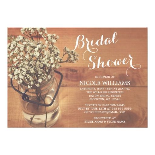 323 best mason jar baby shower invitations images on pinterest,