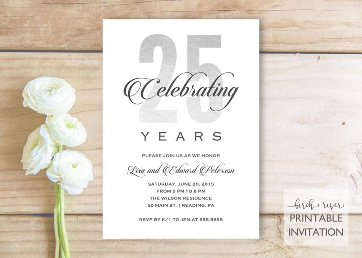 25th Wedding Invitations: 1000+ Ideas About Anniversary Party Invitations On