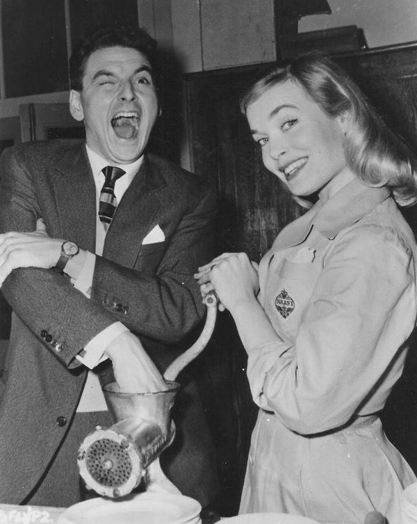 Bob Monkhouse and Shirley Eaton, Carry On Sergeant.