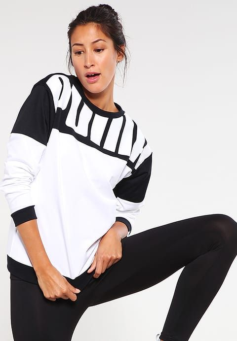 Puma STYLE REBEL - Long sleeved top - puma white WomenShirts & Tops,puma cheap,Factory Outlet,Puma Store Of Uk - Puma Online With Clearance Price