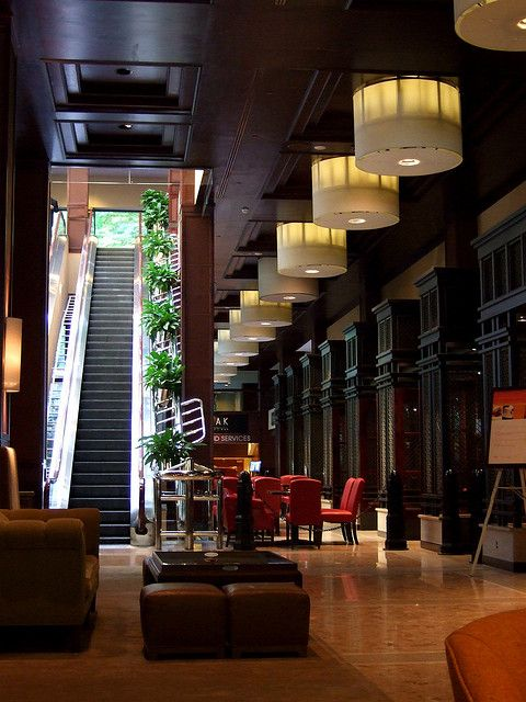 Lobby, Sheraton Centre Hotel, Queen Street West, Toronto, ON, Canada